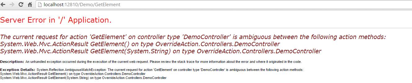 Overload error