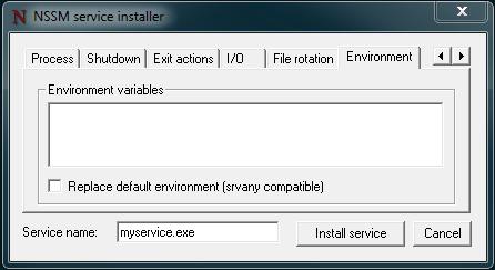 nssm-environment