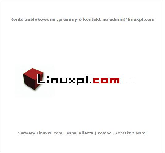 Konto zablokowane z powodu przekroczenia transferu:)